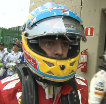 F1 2013 Alonso Unhappy
