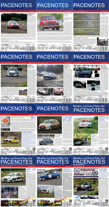 Pacenotes 1 to 12